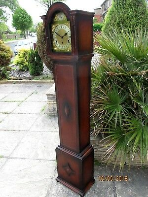 Oak Grandmother clock , westminster chime , circa. 1930s.