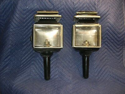 Pair of Matching Carriage Lamps, Lamp Oil or Kerosene, Excellent