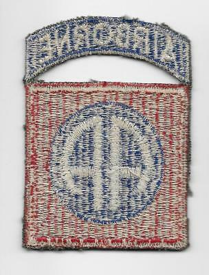 Original WW2 D-DAY, 82nd Airborne Division patch - VERY NICE WHITEBACK - US Army
