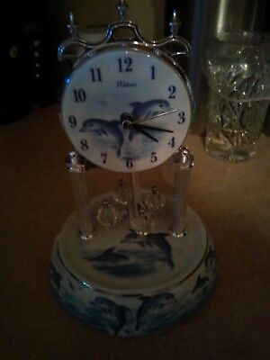 Waltham Dolphin Clock Blue And White (Please Read Details)