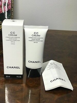 Chanel Cc Cream Super Active Complete Correction Spf 50 #30 Beige