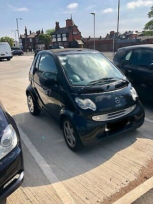 Smart car fourtwo 2003 black convertible auto