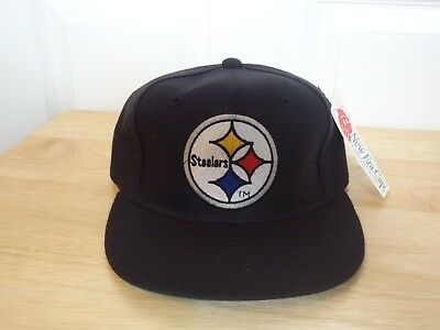 967699001 Vintage Pittsburgh Steelers Fitted Hat 90s New Era NWT NEW NFL Size 6 7 8