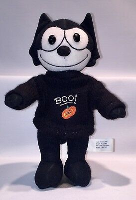 Felix the Cat Halloween BOO Plush Toy Doll Pumpkin and STAND