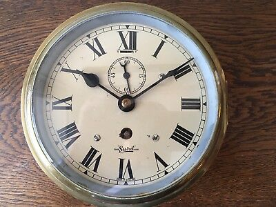 RARE VINTAGE English Ships Marine 8 Day Clock Signed Sestrel of London.