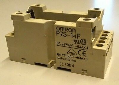 Omron Safety Relay G7S Series Din Rail Mount Base P7S-14F Free Uk Post