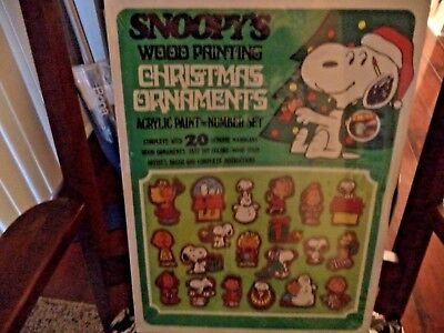 Vintage Peanuts Snoopy's Painting Christmas Ornament Kit New In Sealed Box