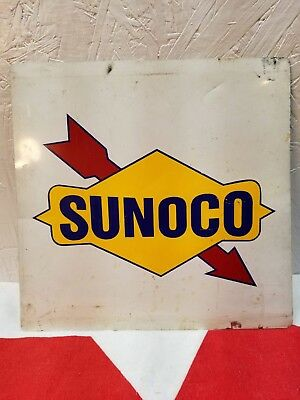 Sunoco Tin Sign With Souders Mini Market Name On Back.......11X11...nice