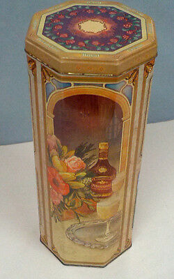 Devonshire royal cream liqueur collectible tin tall  bottle holder gift tin