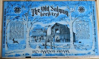 Scarce 70's Unrolled The Old Salmon Brewery  Madison, Indiana Beer Can