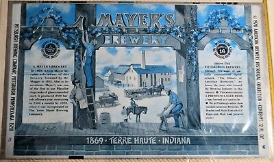Really Cool! 70's Unrolled A. Mayer's Brewery  Terre Haute, Indiana 12 Oz. Can