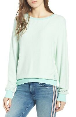aac0c259fd Wildfox Baggy Beach Jumper Crew Neck Sweatshirt. Color: Aqua Green. Size S