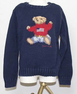 Polo Ralph Lauren Kids Knit Pullover Vintage Bear Size 7