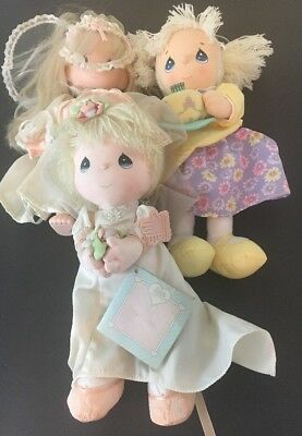 Applause Precious Moments Dolls Lot of 3 Bride Rubber/plastic April Best Wishes