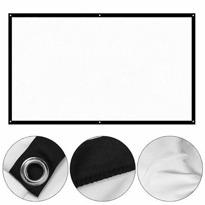 """100"""" 16: 9 Portable Foldable Projector Screen Rear Front Projection Home Theater"""