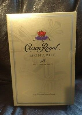 Sealed Retired Crown Royal Monarch 75th Anniversary Edition Box RARE