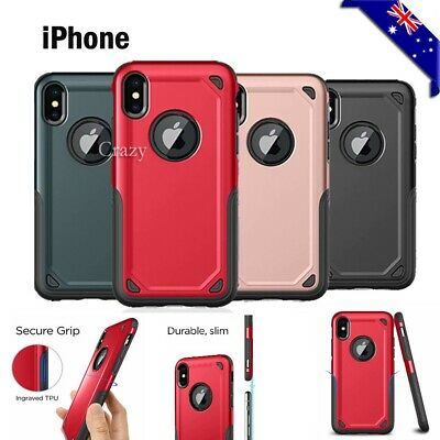 For Apple iPhone X XS Max XR Shockproof Armor Heavy Duty Back Bumper Case Cover