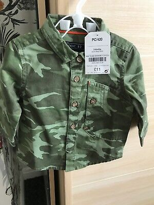Next Camo Shirt 3-6 Months Next Baby Boys New