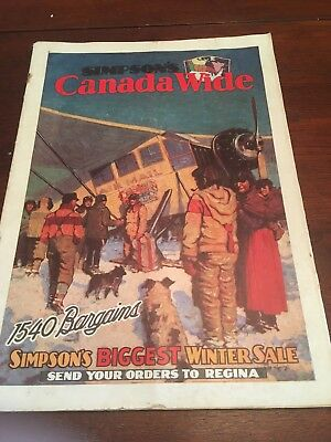 1931 Simpson's Christmas (Dec-Jan) Catalog (Very Rare w/ Iconic Canadian Cover)