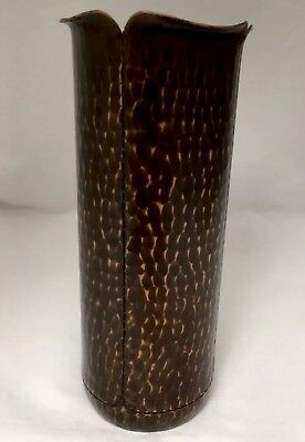 Roycroft Design Luke Marshall Delta Copper Arts & Crafts Hammered Copper Vase