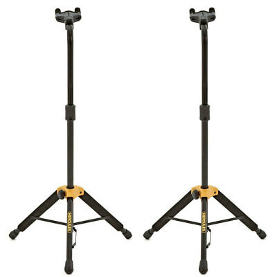 2x Hercules Auto Grib Acoustic/Electric/Bass Guitar Stand Holder Neck Adjustment