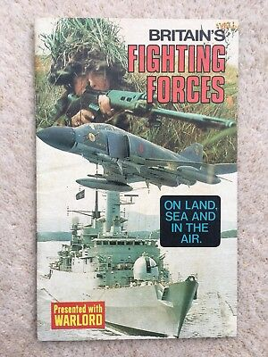 Free Gift Booklet - Britain's Fighting Forces - Warlord #178 - D.c. Thomson 1978