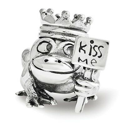 Sterling Silver Reflections Frog Prince Kiss Me Bead