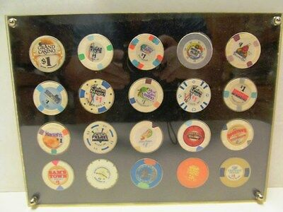 Lot Of 20 Encased $1 Casino Chips From Louisiana & Mississippi