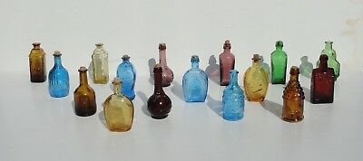 "Lot of 16 Vintage Wheaton NJ Whiskey Multicolored Glass bottles ""NICE CONDITION"""