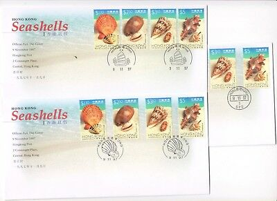 "Hong Kong, 1997, ""sea Shells"" Stamp Set On Gpo Fdc Choose Chop"