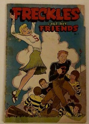 Freckles and His Friends #5 -football cheerleader swimsuit GGA. Low Grade Copy.