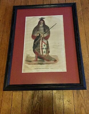 Grand Chief Sioux Published Biddle Philadelphia 1837 Wa-Na-Ta The Charger