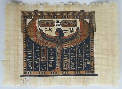 Papyrus Painting From Egyptian Art Caravan of Isis Standing