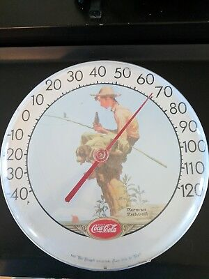 vintage Tru temp outdoor dial thermometer coca cola Norman Rockwell