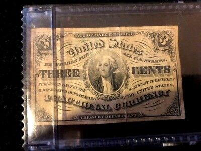 1863 U.S Three Cent Fractional Currency NO RESERVE