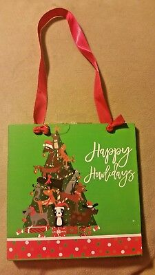 """Happy Howlidays"" Dachshund Sausage Dog Holiday Christmas Ornament Wooden Plaque"