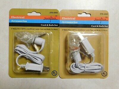 New Fused 3' Foot C7 Replacement Blow Mold Christmas Outdoor Light Cord & Socket