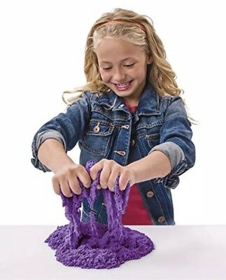 Kinetic Sand 3 Color Bundle Pack Blue Black Purple And container included New