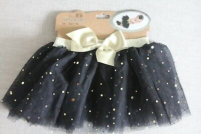 NWT 0-3 Month So Dorable Halloween Black And Gold Tutu Skirt