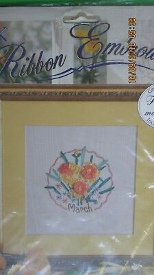 Bucilla Silk Ribbon Embroidery Flowers of the Month MARCH DAFFODIL