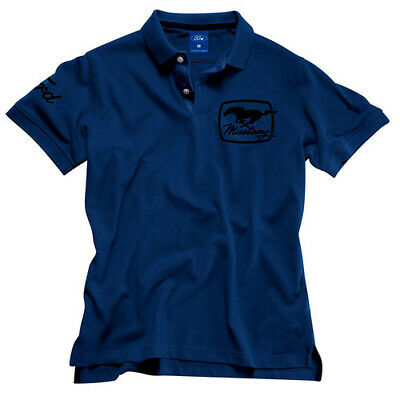 Ford Mustang Blue Polo Shirt  Ford Merchandise