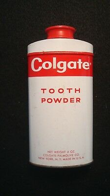 Vintage COLGATE TOOTH POWDER Container VTG Advertising Excellent Condition