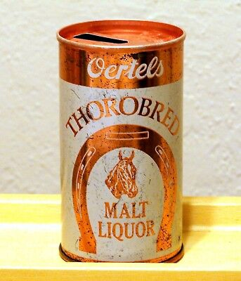 **tough c. 1960s Oertel's THOROBRED ML U-tab beer can from Louisville, KY