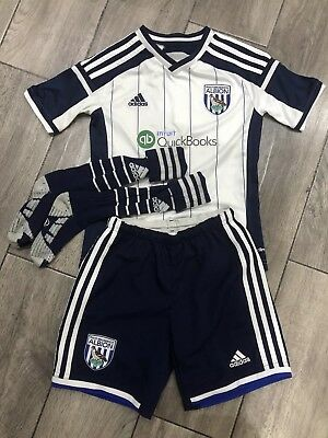 West Bromwich Albion Childs Team Replica Kit Y/M 7-8 Yrs