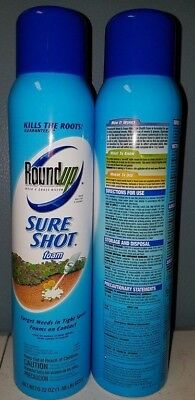 2 Pack Roundup Weed & Grass Killer Sure Shot Foam Spray, 22-Ounce Discontinued