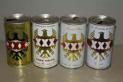 Four Tres Equis cans from MEXICO