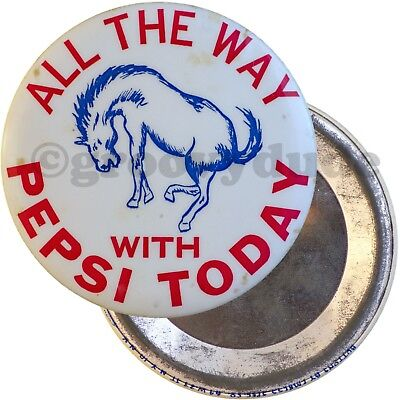 1964 All The Way With Pepsi Today Cola Advertising Soft Drink Pin Pinback Button