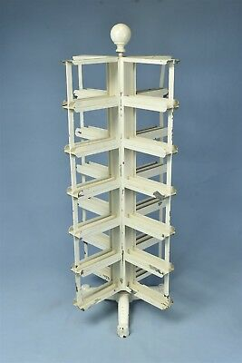 Antique COUNTRY STORE COUNTER TOP ROTATING POST CARD DISPLAY RACK RARE #05943