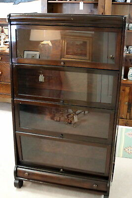 Lundstom antique mahogany 4 stack Barrister  bookcase Little Falls N.Y.