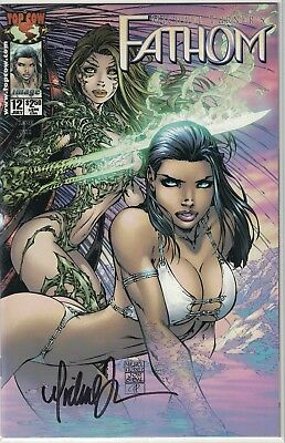 Top Cow Michael Turner's Fathom #12a Signed Autograph Free Shipping